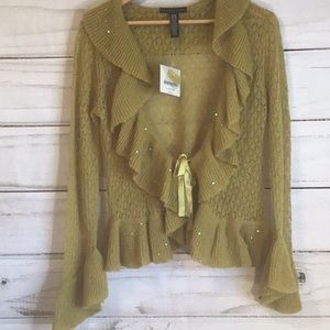 Apostrophe knitted Long Sleeve Sweater